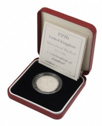 1996 Silver Proof Piedfort £2 Euro 96 for sale